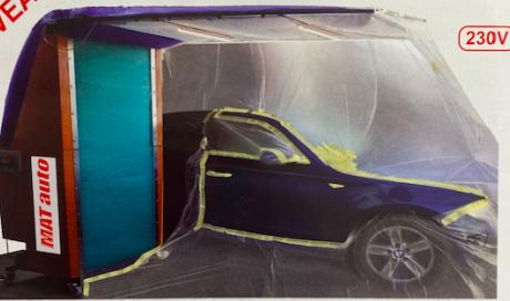 Cabine de peinture garage auto Lyon